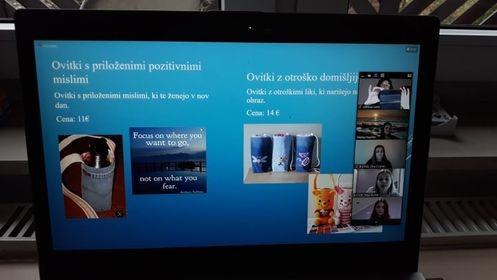 Predstavitev učnega podjetja B-CASE na video tržnici ZOOM